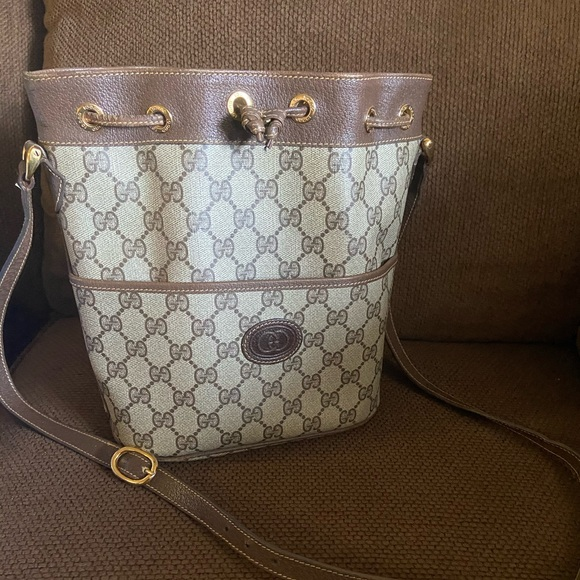 Gucci Handbags - -SOLD- Gucci Vintage bucket bag- good condition